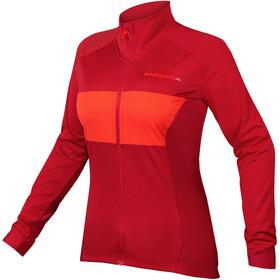 Endura FS260-Pro Jetstream II Maglia jersey a maniche lunghe Donna, rosso